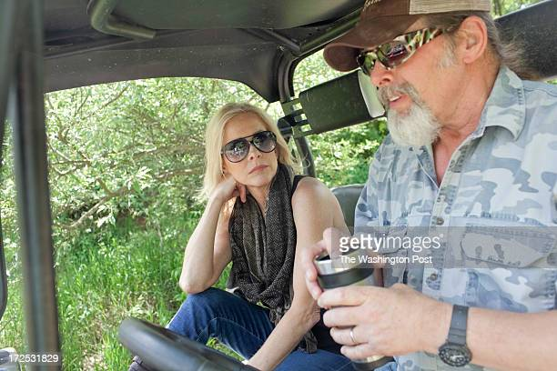 Ted and his wife Shemane Nugent ride a 4wheeler on their 1200 acre ranch in Concord Michigan on June 6 2013 Ted said when he was younger he spent his...