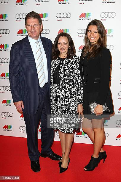 Ted Baillieu and his family arrive at the Australian Premiere of The Sapphires at the Russell Street Greater Union on August 2, 2012 in Melbourne,...