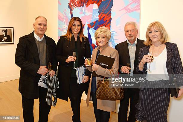 Ted Beckham Joanne Beckham Sandra Beckham Tony Adams and Jackie Adams attend a charity auction of 'David Beckham The Man' hosted by Phillips at their...
