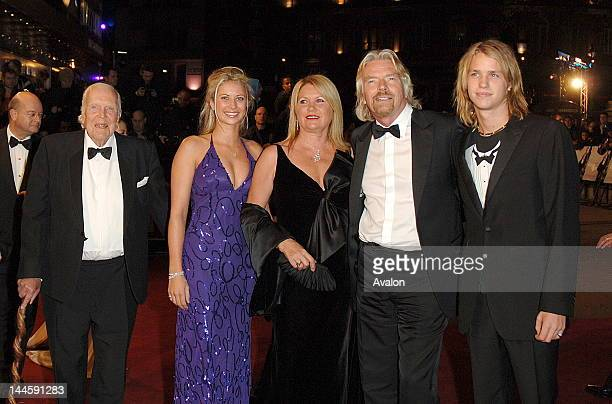 Ted Branson, Holly Branson, Joan Templeman, Sir Richard Branson and Sam Branson attending the world premiere of new Bond movie 'Casino Royale', Odeon...
