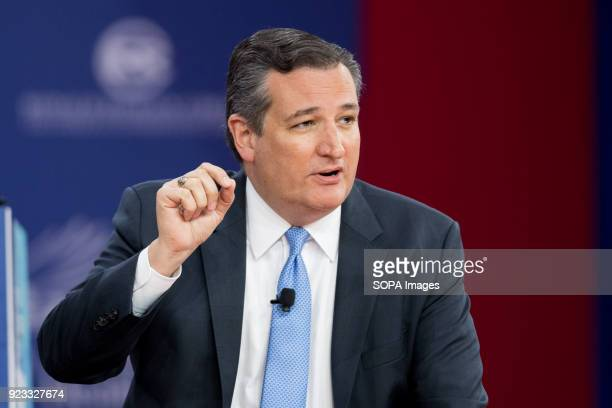 Ted Cruz United States Senator from Texas at the Conservative Political Action Conference sponsored by the American Conservative Union held at the...