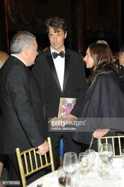 Ted Dalenson, Richard Phillips and Josephine Meckseper attend AMERICANS FOR THE ARTS 2010 National Arts Awards at Cipriani 42nd St on October 18,...