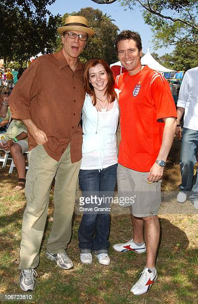 Ted Danson Alyson Hannigan and Alexis Denisof during Target A Time for Heroes Celebrity Carnival to Benefit the Elizabeth Glaser Pediatric AIDS...