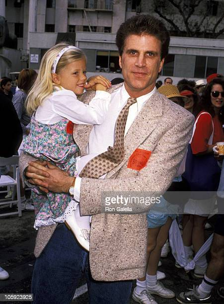 Ted Danson and Alexis Danson during 'Earthwalk Benefit' April 22 1990 at 20th Century Fox Studios in Los Angeles California United States