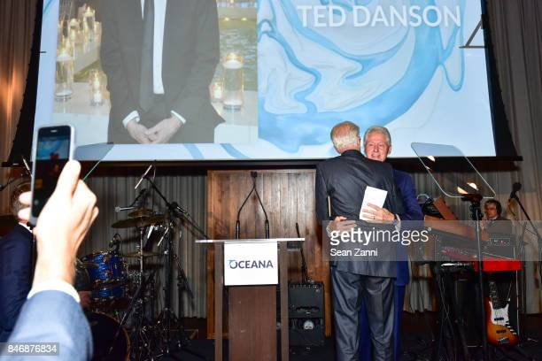 Ted Danson and Former US President Bill Clinton attend the Oceana New York Gala at Blue Hill at Stone Barns on September 13 2017 in Tarrytown New York