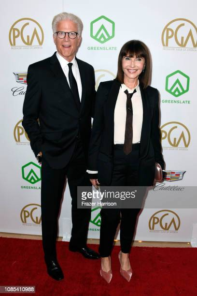 Ted Danson and Mary Steenburgen attend the 30th annual Producers Guild Awards at The Beverly Hilton Hotel on January 19 2019 in Beverly Hills...