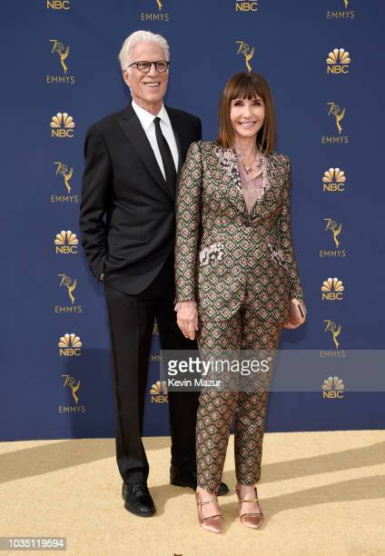 Ted Danson and Mary Steenburgen attend the 70th Emmy Awards at Microsoft Theater on September 17 2018 in Los Angeles California