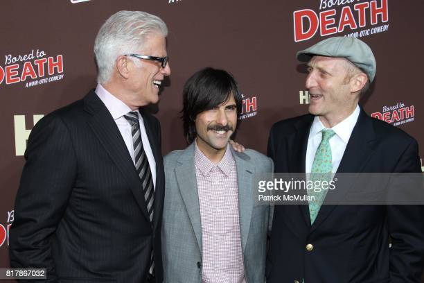 Ted Danson Jason Schwartzman and Jonathan Ames attend HBO Presents the Season Premiere of BORED TO DEATH at NYU Skirball Center on September 21 2010...