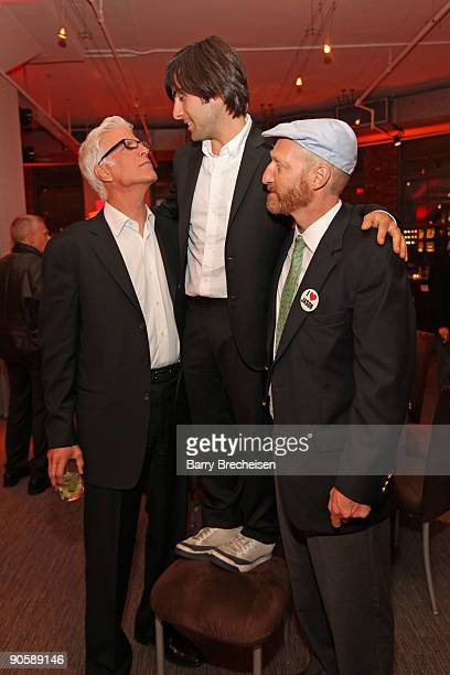 Ted Danson Jason Schwartzman and Jonathan Ames attend the premiere of HBO's Bored to Death at the Clearview Chelsea Cinemas on September 10 2009 in...
