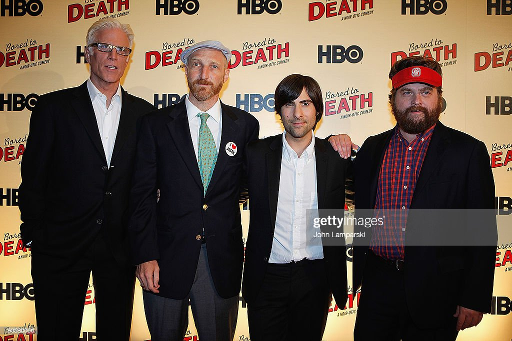 Ted Danson Jonathan Ames And Jason Schwartzman And Zach Galifianakis News Photo Getty Images
