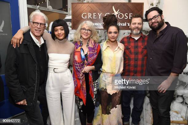 Ted Danson Kiersey Clemons Blythe Danner Sasha Lane Nick Offerman and director Brett Haley attend the 'Hearts Beat Loud' afterparty at the Grey Goose...