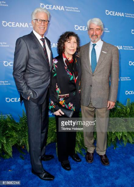Ted Danson Lily Tomlin and Sam Waterston attend the 10th annual Oceana SeaChange Summer Party at Private Residence on July 15 2017 in Laguna Beach...