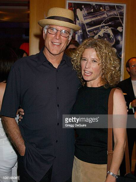 "Ted Danson & Nancy Travis of ""Becker"" during 2003 TCA Summer Press Tour - CBS Party in Hollywood, California, United States."