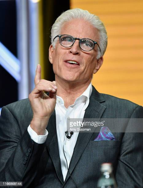 Ted Danson of 'The Good Place' speak during the NBC segment of the 2019 Summer TCA Press Tour at The Beverly Hilton Hotel on August 08 2019 in...