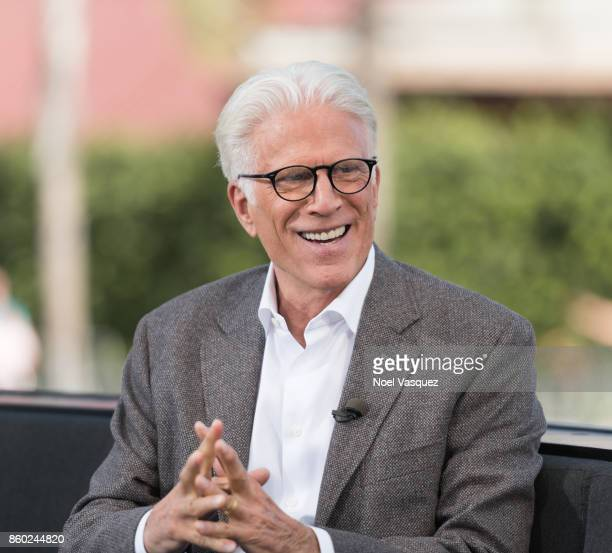Ted Danson visits 'Extra' at Universal Studios Hollywood on October 11 2017 in Universal City California