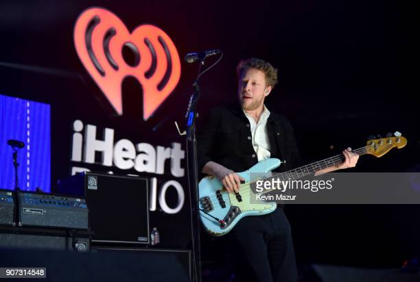 Ted Dwane of Mumford Sons performs onstage during iHeartRadio ALTer Ego 2018 at The Forum on January 19 2018 in Inglewood United States