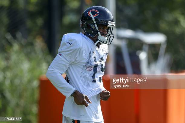 Ted Ginn Jr. #19 of the Chicago Bears looks on during training camp at Halas Hall on September 02, 2020 in Lake Forest, Illinois.