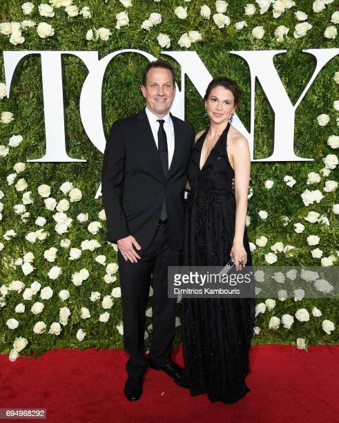 Ted Griffin and actress Sutton Foster attends the 2017 Tony Awards at Radio City Music Hall on June 11 2017 in New York City