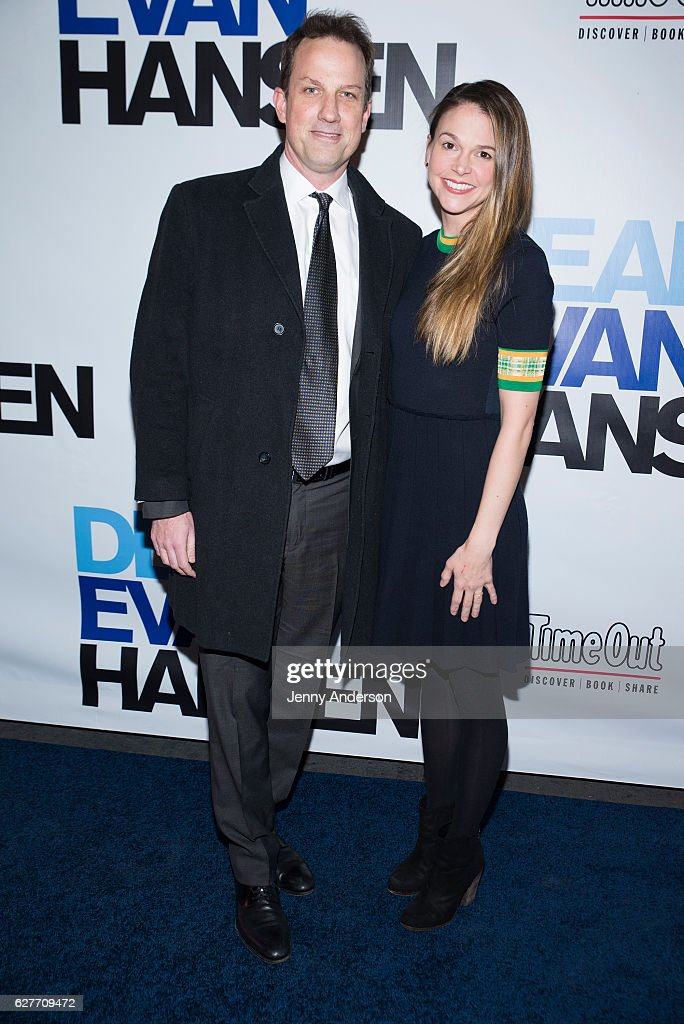 Ted Griffin and Sutton Foster attend 'Dear Evan Hansen' opening at Music Box Theatre on December 4, 2016 in New York City.