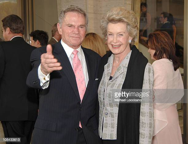Ted Hartley and Dina Merrill during Dustin Hoffman Honored by the Film Society of Lincoln Center at Lincoln Center's Avery Fisher Hall in New York...