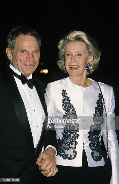 Ted Hartley and Dina Merrill during Party for Celebrity at Tavern on the Green in New York City New York United States