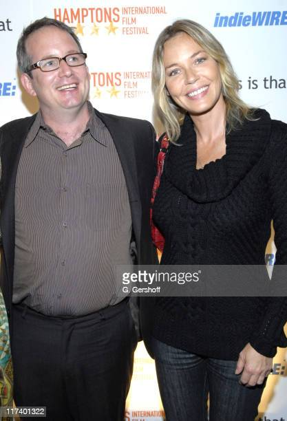 Ted Hope and Connie Nielsen during 14th Annual Hamptons International Film Festival - Industry Toast to Ted Hope at East Hampton Point in East...