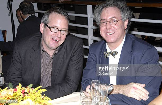 Ted Hope and James Schamus during 14th Annual Hamptons International Film Festival Industry Toast to Ted Hope at East Hampton Point in East Hampton...