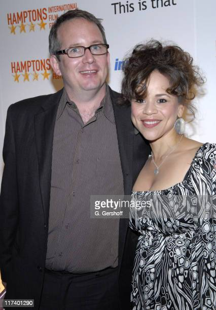 Ted Hope and Rosie Perez, host during 14th Annual Hamptons International Film Festival - Industry Toast to Ted Hope at East Hampton Point in East...
