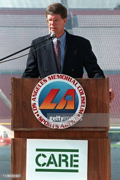 Ted Howard Deputy Secretary General of CONCACAF talks with reporters 16 November as he announces a friendly tournament to be played at the Los Angees...