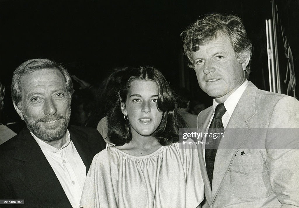 Ted Kennedy and Andy Williams with daughter circa 1978 in New York City.