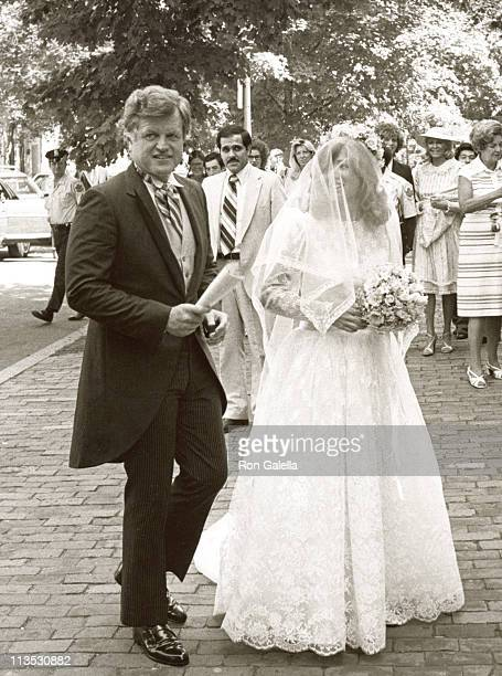 Ted Kennedy and Courtney Kennedy during Courtney Kennedy and Jeff Ruhe Wedding at Holy Trinity Church in Washington DC Washington DC United States