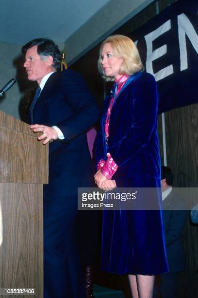 Ted Kennedy and Joan Kennedy appearing in New York State Primary