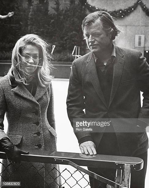 Ted Kennedy and Joan Kennedy during Bedford Stuyvesant Benefit at RCA Skating Rink in New York City New York United States