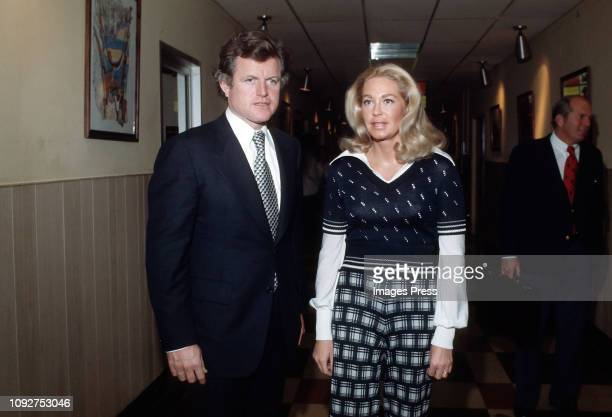 Ted Kennedy and Joan Kennedy visiting Ted Kennedy Jr in the hospital
