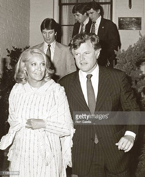 Ted Kennedy and Wife Joan Kennedy during Rehearsal Dinner for Courtney Kennedy and Jeff Ruhe's Wedding at Georgetown Club in Georgetown Washington DC...