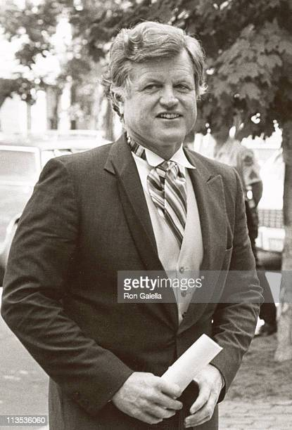 Ted Kennedy during Courtney Kennedy and Jeff Ruhe Wedding at Holy Trinity Church in Washington DC Washington DC United States