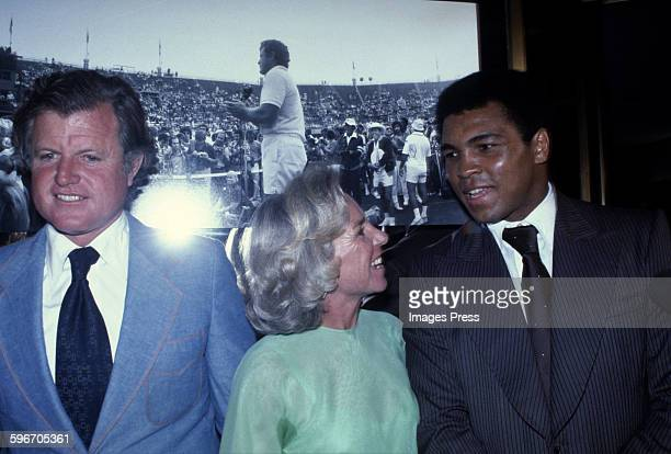 Ted Kennedy Ethel Kennedy and Muhammad Ali circa 1970s in New York City