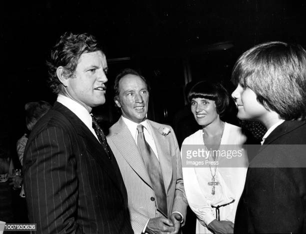Ted Kennedy Piere Trudeau and Margaret Trudeau circa 1981 in New York