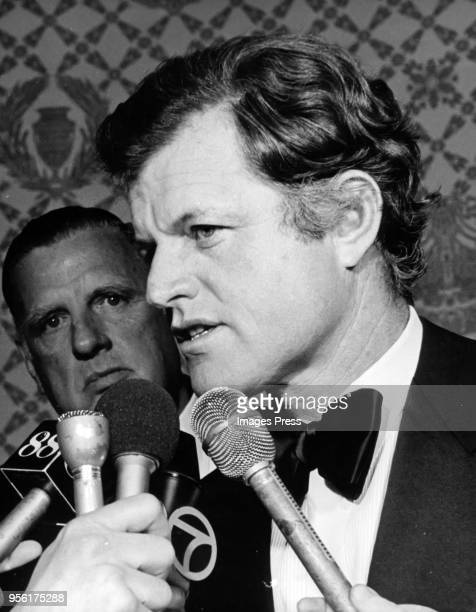 Ted Kennedy speaks during the American Cancer Society dinner at the Waldorf in New York City on June 4th 1974