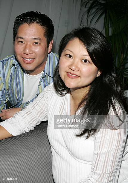 "Ted Kim and Visual Effects producer Kymber Lim pose at the Audi party for ""The Host"" during AFI FEST 2006 presented by Audi held at the Audi Pavilion..."