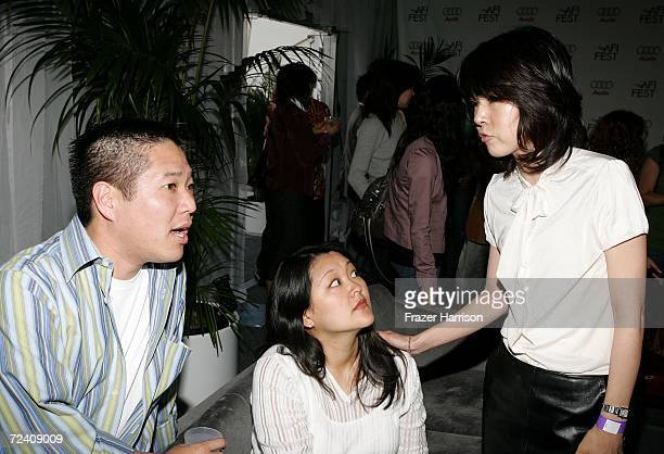 "Ted Kim, Visual Effects producer Kymber Lim and producer June Lee talk at the Audi party for ""The Host"" during AFI FEST 2006 presented by Audi held..."