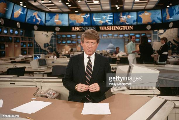 Ted Koppel During Nightline Broadcast