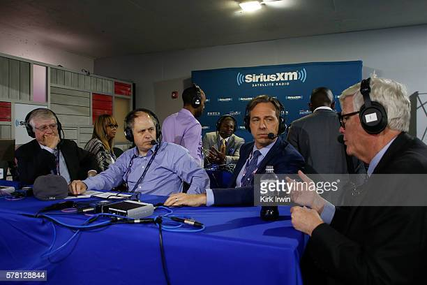Ted Koppel Jake Tapper and Hugh Hewitt sit down to talk about the 2016 presidential race with Jonathan Alter on his show 'Alter Family Politics' at...