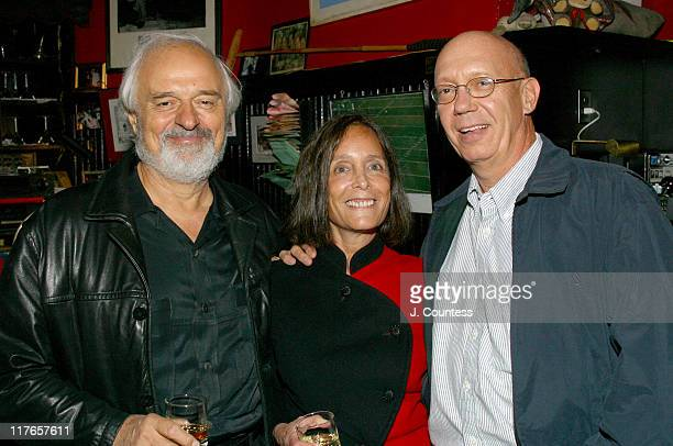 Ted Kotcheff Jessica Burstein and Dann Florek during Dick Wolf and Jessica Burstein Celebrate the Release of Law Order Crime Scenes Book at Elaine's...