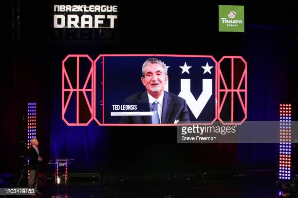 Ted Leonsis talks to the crowd during the NBA 2K League Draft on February 22 2020 at Terminal 5 in New York New York NOTE TO USER User expressly...