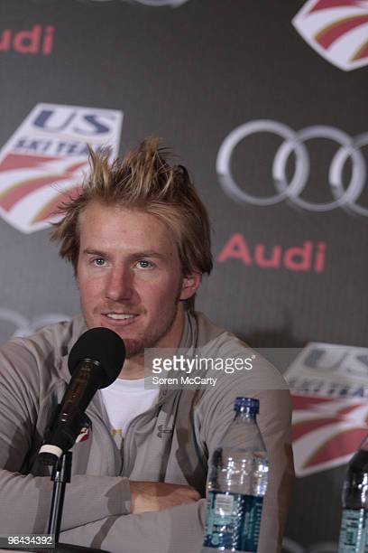 Ted Ligety attends an Audi of America and US Ski Team press conference November 18 2009 in Copper Mountain Colorado
