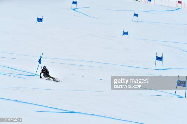 US Ted Ligety competes during the men's SuperG combined event of the FIS Alpine Ski World Cup in Bansko on February 22 2019