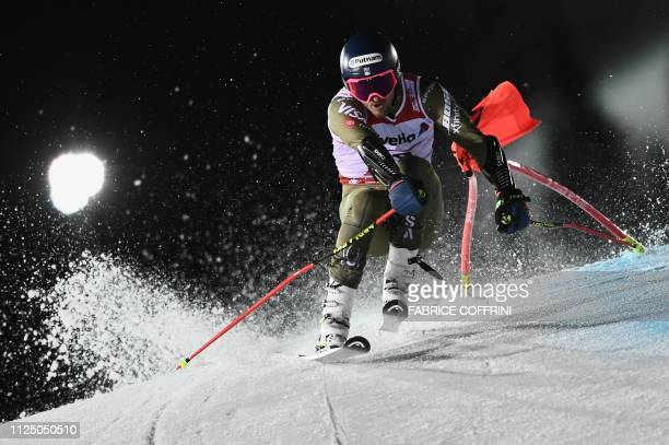 Ted Ligety competes in the second run of the men's Giant slalom event at the 2019 FIS Alpine Ski World Championships at the National Arena in Are...