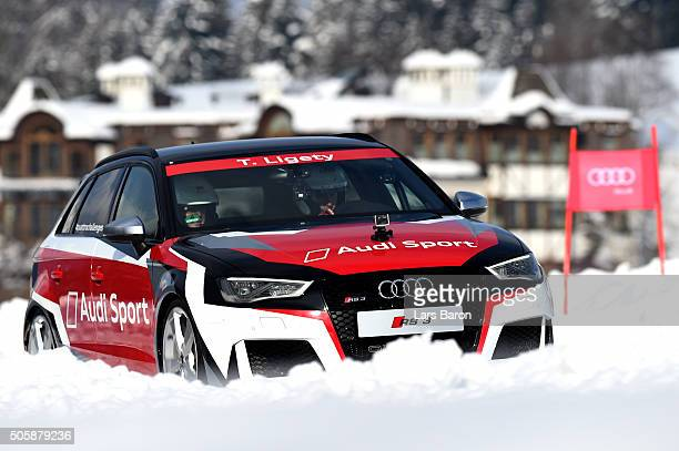 Ted Ligety drives during the final day of the Audi Quattro #SuperQ on January 20 2016 in Kitzbuehel Austria