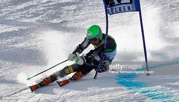 Ted Ligety from the USA during takes 2nd place the Alpine FIS Ski World Cup Men's Giant Slalom on October 25 2009 in Solden Austria